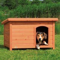 Bouda pro psa dřevěná rovná střecha Trixie