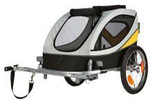 Vozík za kolo M - 45x48x74 cm do 30 kg šedo/žluto/černý Trixie