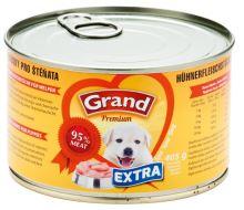 GRAND konzerva štěně Extra kuřecí kousky 405g