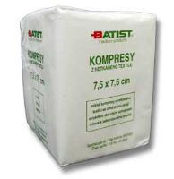 Kompres gáza 7,5x7,5cm nesterilní 100ks Batist Medical