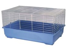 Klec SMALL ANIMAL K100N chromová + modrá 100x54,5x45,5cm