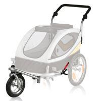 Přední kolo a držadlo k vozíku M (žluto-šedý), konverze na běhání Trixie
